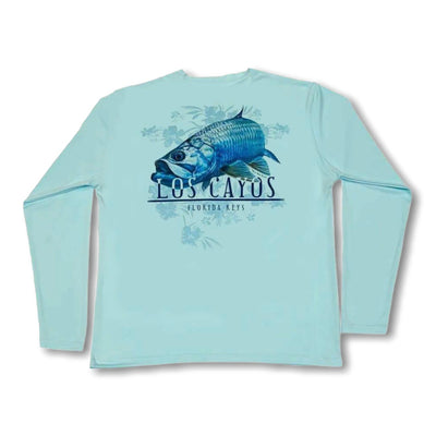 Tarpon / Mint - Quick Dry UPF 50+ Mens Long Sleeve