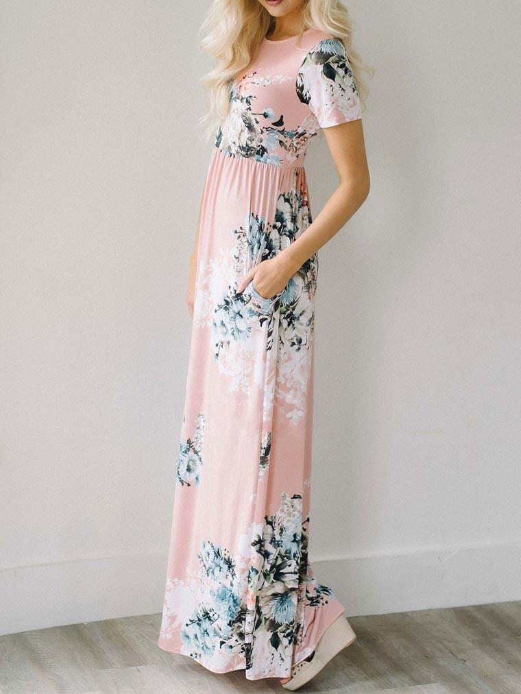 Awadolls Call Me Ravishing Pink Maxi Dress