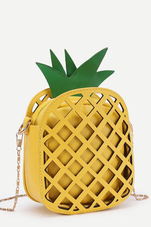 Awadolls Cute Yellow Pineapple Bag