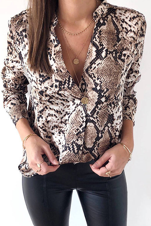 Awadolls Fashion Snake Printed Shirt