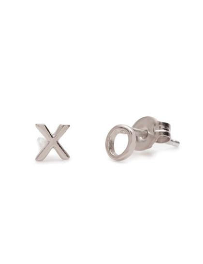Awadolls Minimalist Personlized XO Style Earrings