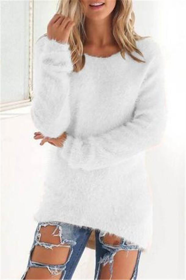 Awadolls Fashion Soft Pure Color Cute Sweater