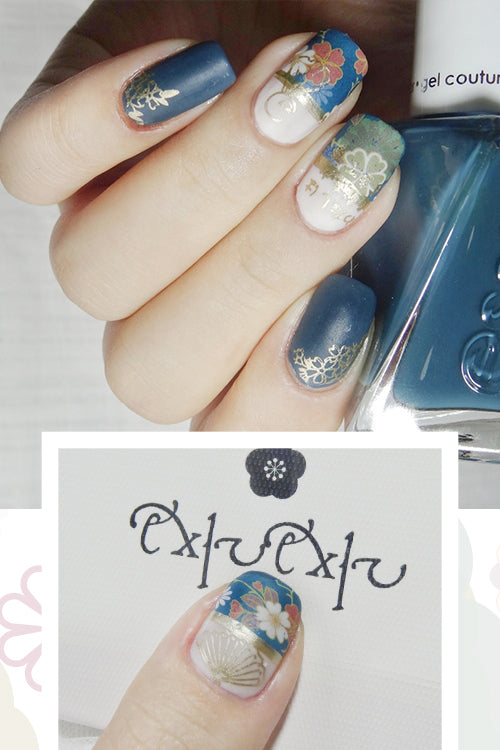 EXIUEXIU Flowers Design Water Slide Nail Decals