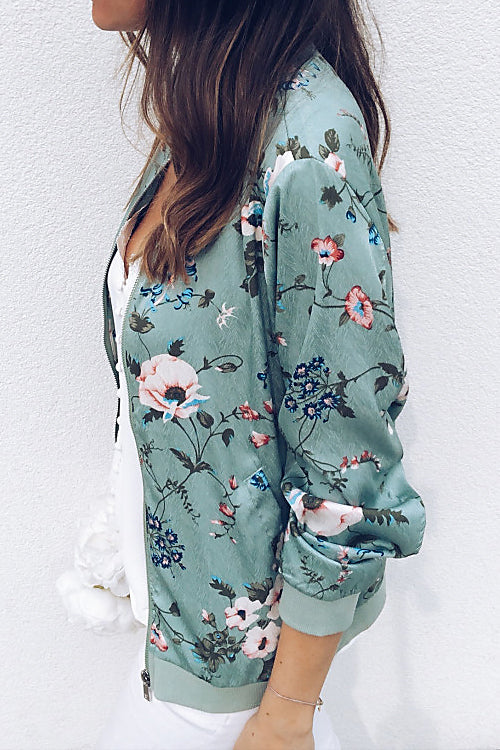 Awadolls Fashion Floral Printed Sweatshirt Jacket