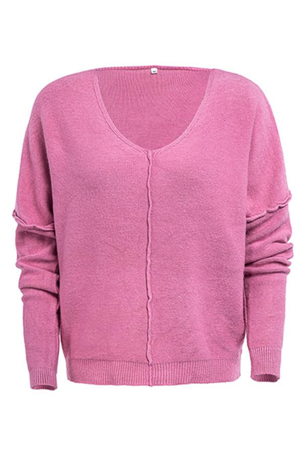 Awadolls Casual Solid Color Sweater