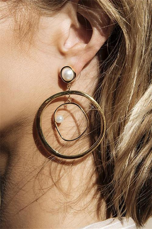 Awadolls Fashion Pearl Circle Earring