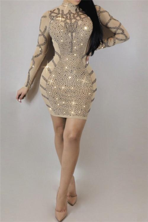 Awadolls Sequins Bodycon Mini Dress