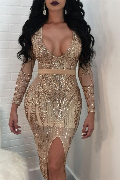Awadolls Sequins Bodycon Dress