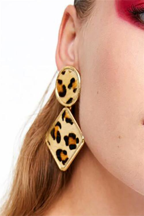 Awadolls Fashion Leopard Earrings
