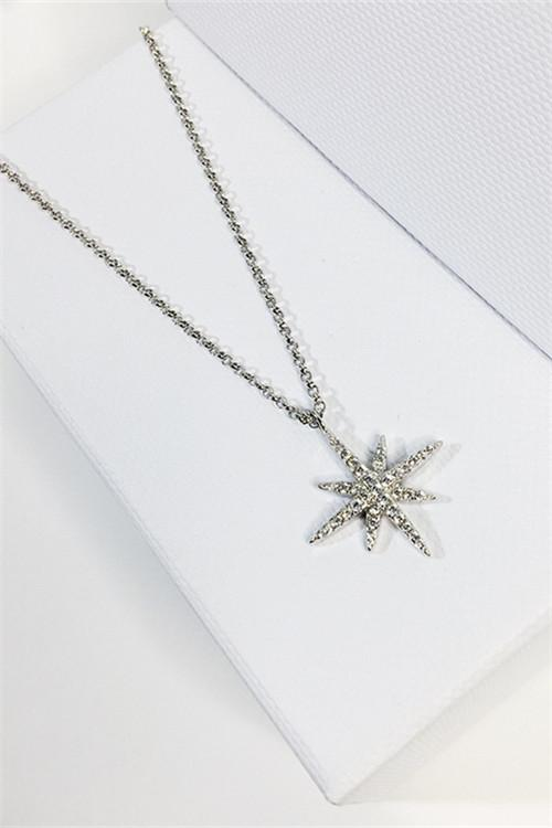 Awadolls Fashion Silver Layered Star Necklace