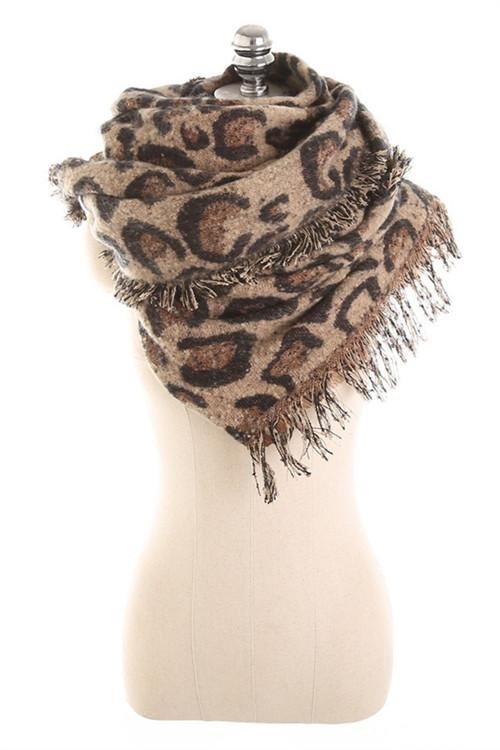 Awadolls Leopard Thick Scarf