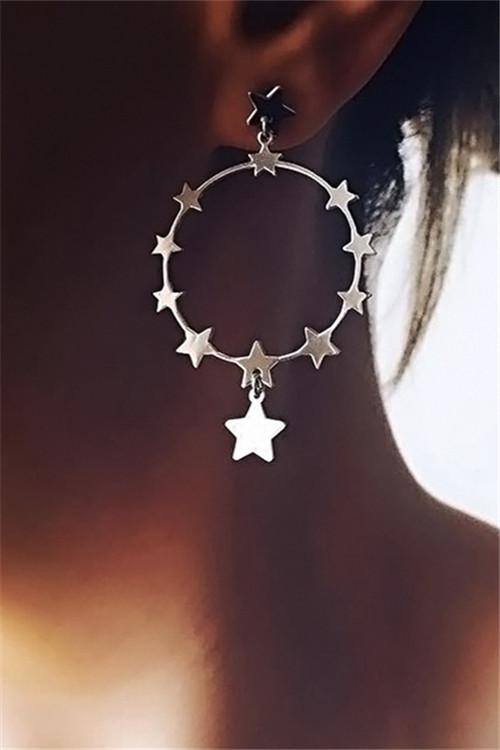 Awadolls Bohemian Star Circle Earring