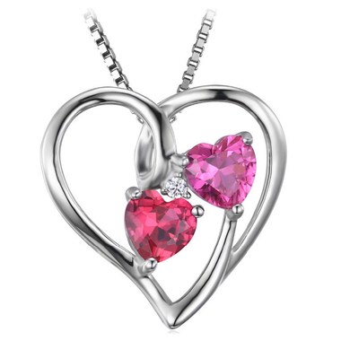 6061b16fdde Genuine 1.2ct Red and Pink Ruby Pendant (July)