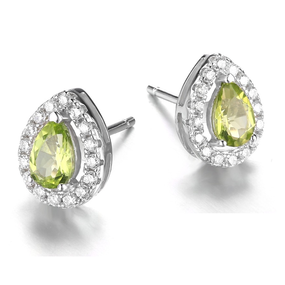 silver or earrings gold stone stud peridot usa carlos arizona reservation san platinum