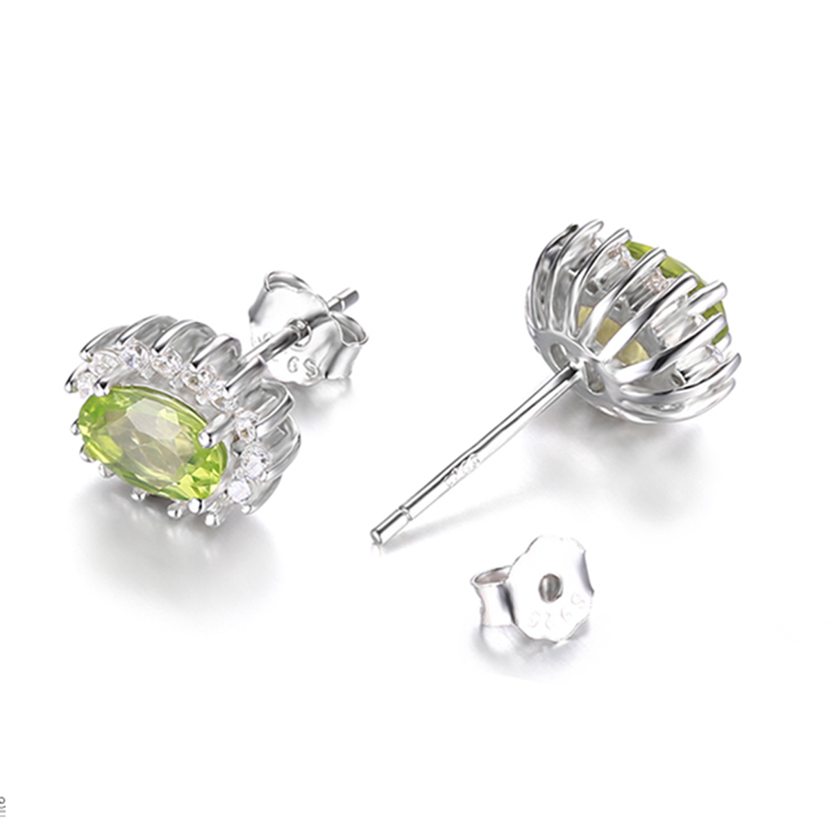 peridot silver product sterling embers by stud birthstone earrings original dot round