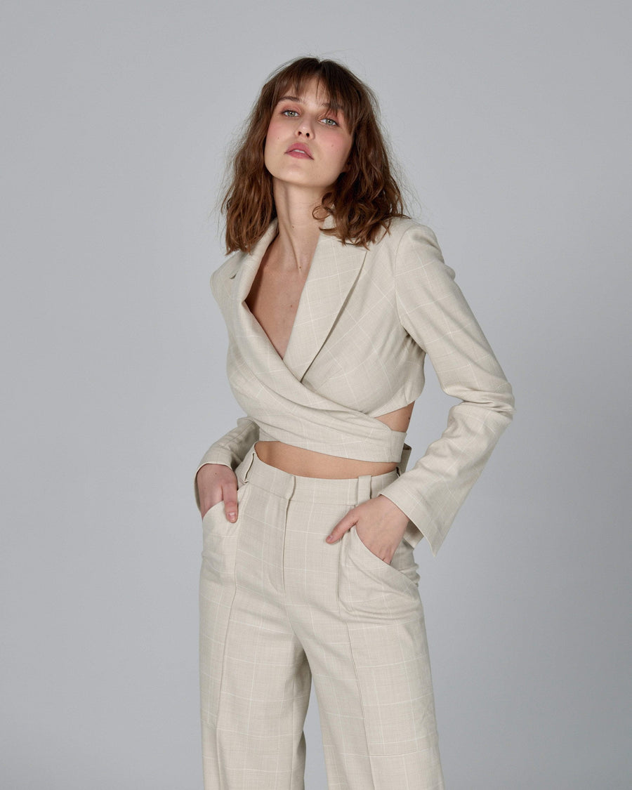Crop Jacket Nude