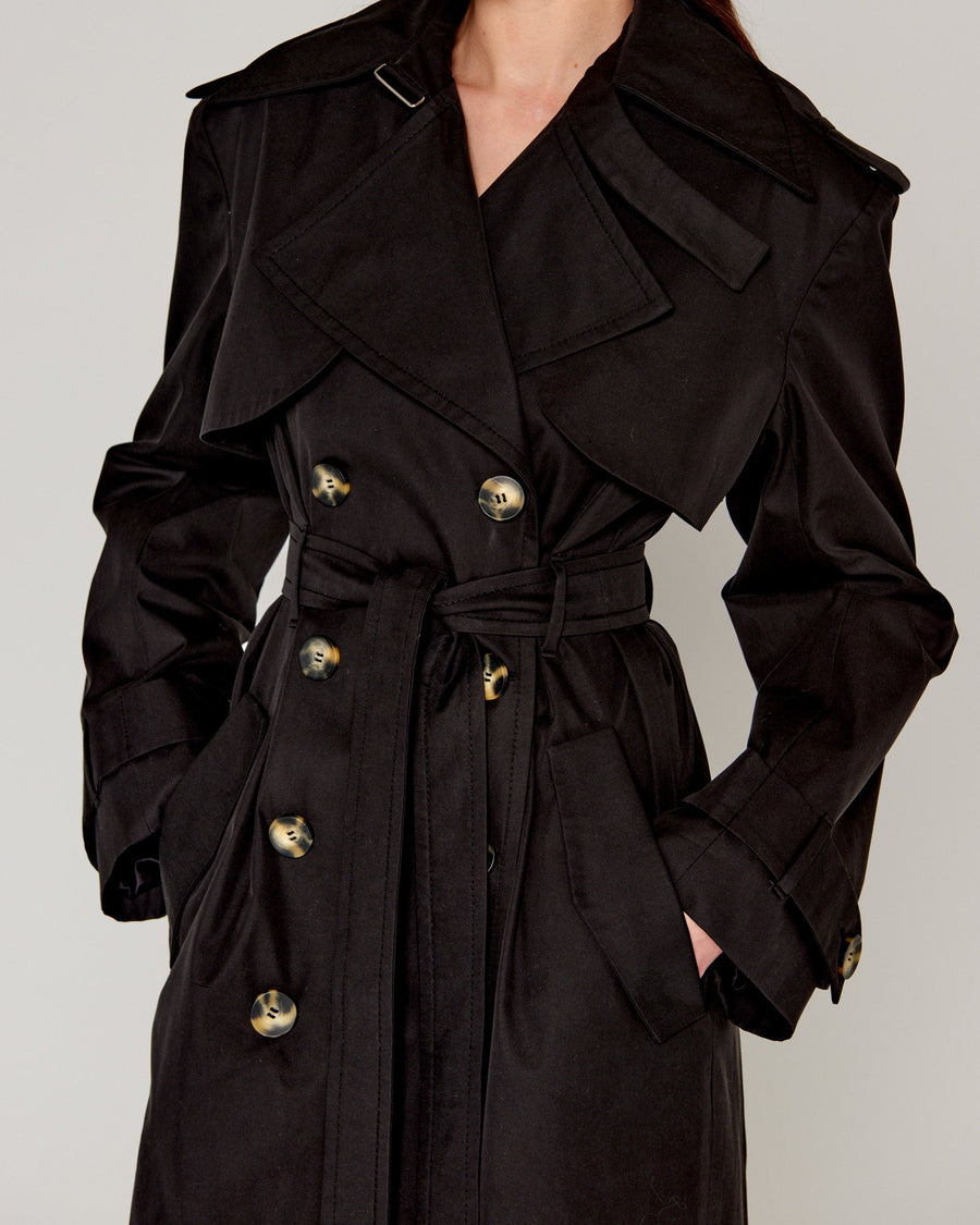 Casablanca Trench Black