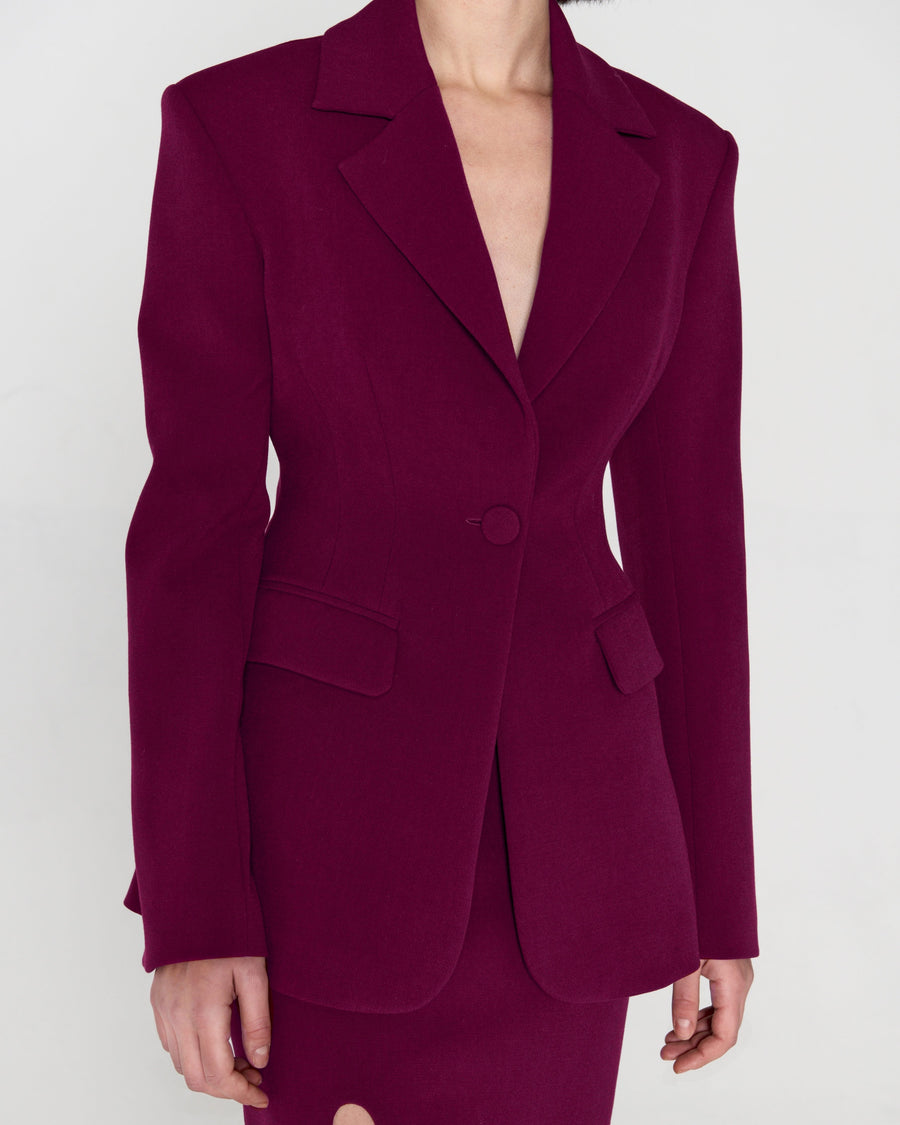 Jaqueline Jacket Bordo