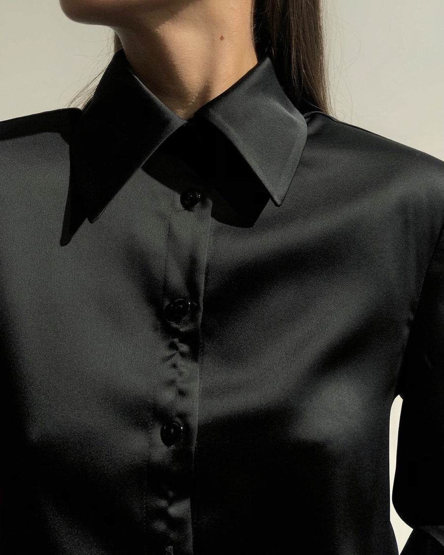 Silky Blouse Black