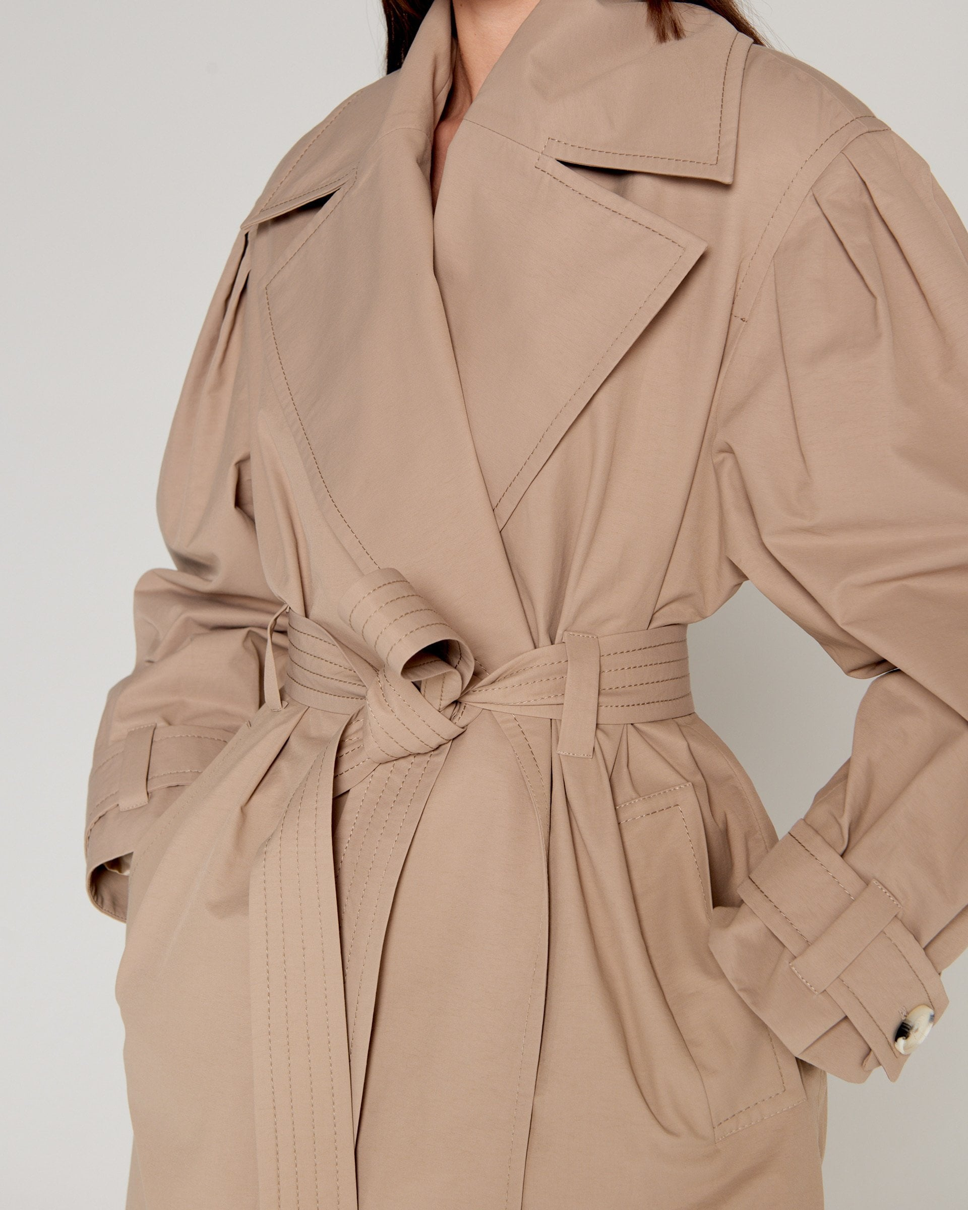 80's Trench Coat Nude