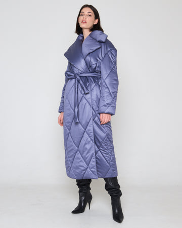 Quilted Coat Blue