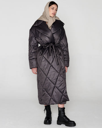 Quilted Coat Graphite