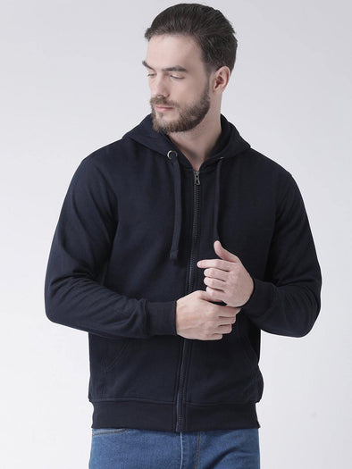Griffel Men's Basic Fleece Zipper Sweatshirt with Hood and Kangaroo Pocket