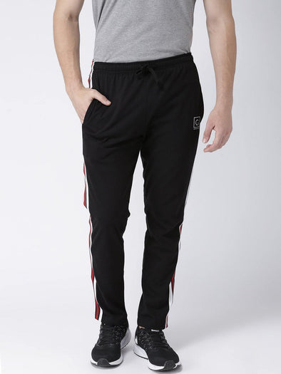 GRIFFEL Men Black Trackpants