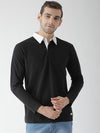 Griffel Men's Stylish Full Sleeve Polo T-shirt with Sleeve Contrast Collar - griffel