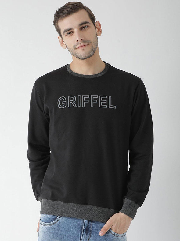 Griffel Men's Stylish Round neck Fleece Sweatshirt - griffel