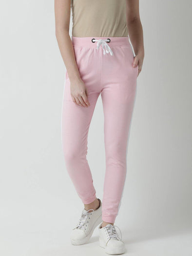 Griffel Women's Basic Solid Pink Trackpant - griffel