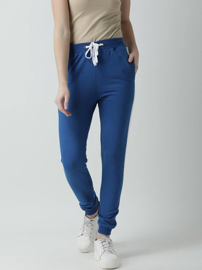 Griffel Women's Basic Solid Blue Trackpant