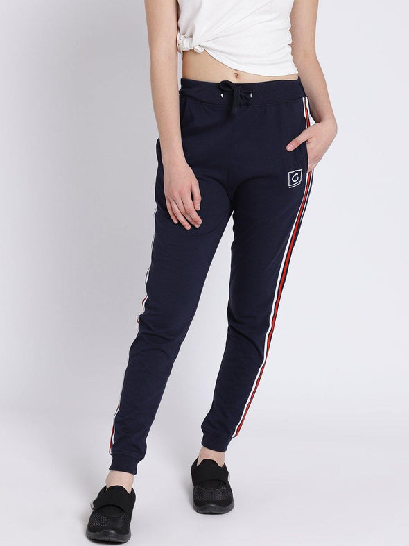 Griffel Women's Basic Solid Navy Joggers - griffel