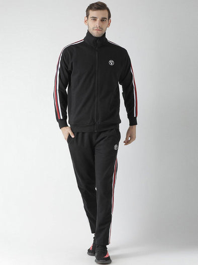 Griffel Men's Front Logo Design Basic Plating Fleece Tracksuit - griffel