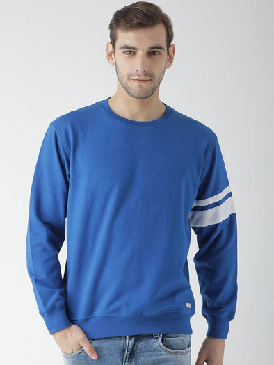 Griffel Men's Stylish Round neck Fleece Sweatshirt with Sleeve Print - griffel