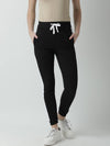 Griffel Women's Basic Solid Black Trackpant