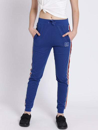 Griffel Women's Basic Solid Royal Joggers