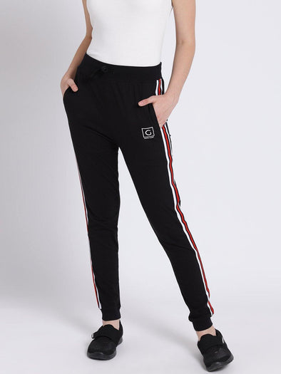 Griffel Women's Basic Solid Black Joggers - griffel