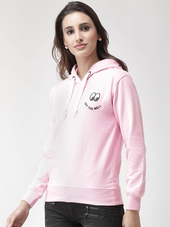 Griffel Women Printed Solid Fleece Hoodie - griffel