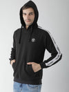 Griffel Men's Stylish Hooded Neck Black Fleece Sweatshirt - griffel