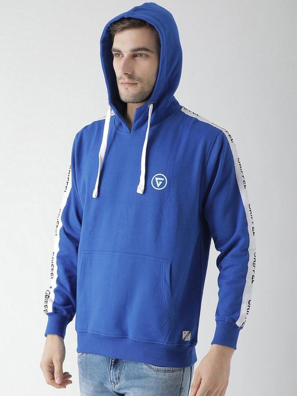 Griffel Men's Stylish Hooded Neck Royal Fleece Sweatshirt - griffel