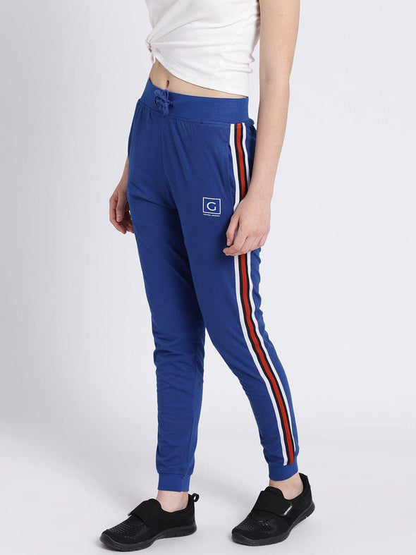 Griffel Women's Basic Solid Royal Joggers - griffel