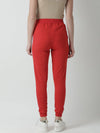 Griffel Women's Basic Solid Red Trackpant - griffel