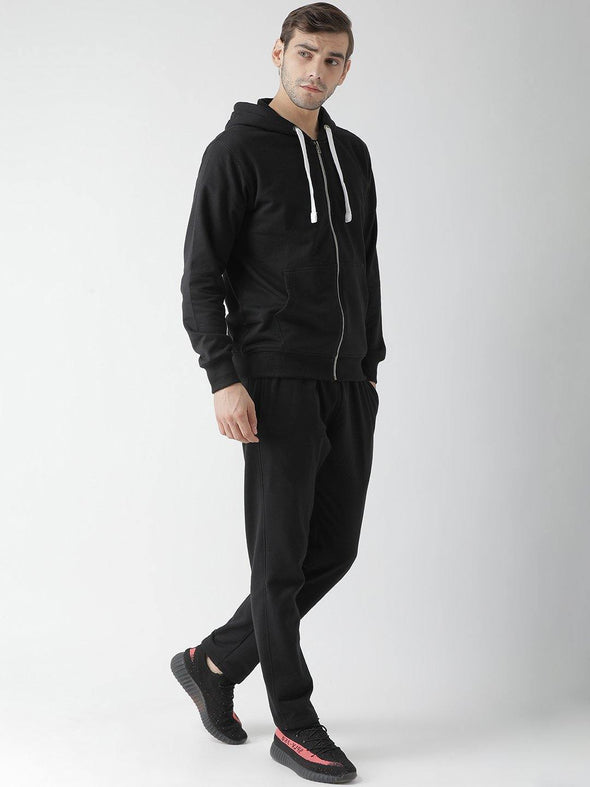 Griffel Men's Basic Cotton-plating Fleece Tracksuit with Metal Zip - griffel