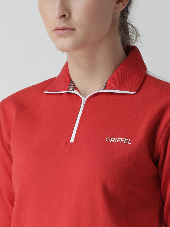 Griffel Women's Solid Fleece Hoodie and Joggers Full set Tracksuit