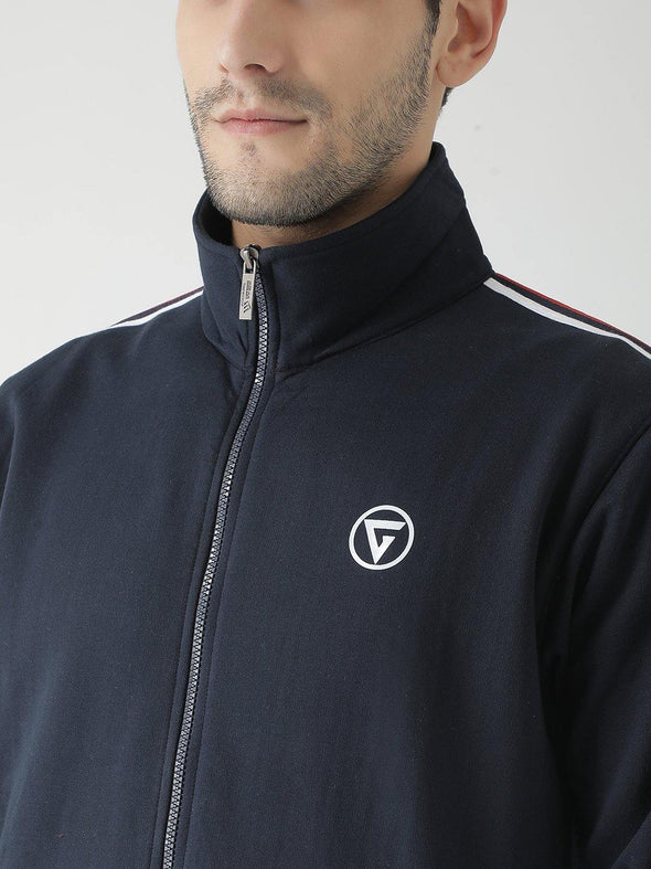 Griffel Men's Front Logo Design Basic Plating Fleece Tracksuit