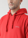 Griffel Men's Front Logo Design Basic Plating Hooded Fleece Tracksuit