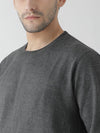 Griffel Men's Stylish Round neck Basic Solid Fleece Sweatshirt - griffel