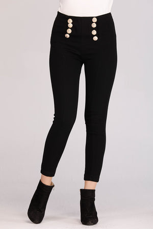 Mantra Pakistan FRONT BUTTONS HIGH WAISTED JEANS | BOTTOMS