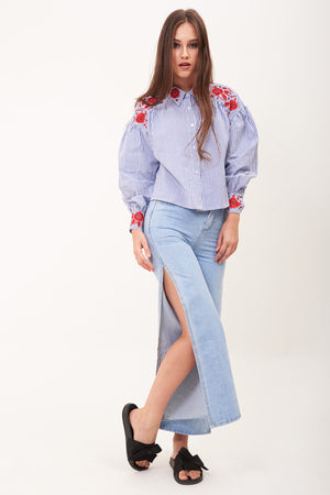 Mantra Pakistan JEANS WITH SIDE SLITS | BOTTOMS